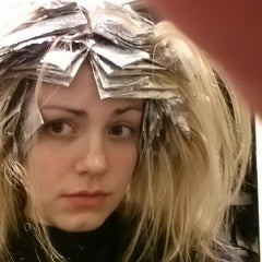 Photo taken at New Reflections Salon-Aveda Lifestyle by Andrea L. on 12/15/2012