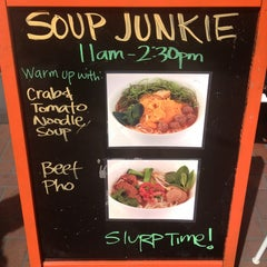Photo taken at Soup Junkie by Jennifer B. on 3/25/2013