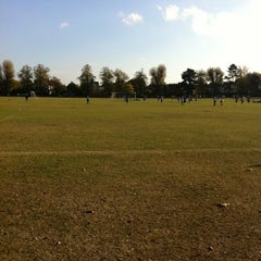 Photo taken at Dundonald Recreation Ground by Steve R. on 10/22/2011