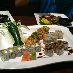 Photo taken at Red Ginger Sushi & Hibachi by Lisa H. on 4/1/2012