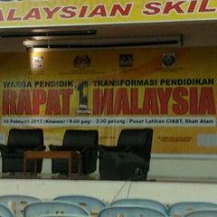 Photo taken at Pusat Latihan Pengajar dan Kemahiran Lanjutan (CIAST) by Ian L. on 2/16/2012