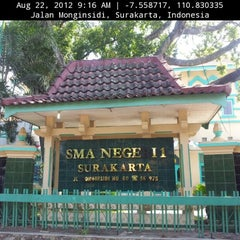 Photo taken at SMA Negeri 1 Surakarta by agung t. on 8/22/2012