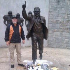 Photo taken at Joe Paterno Statue by Howie B. on 7/20/2012
