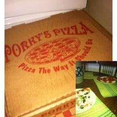 Photo taken at porky pizza by Jamie L. on 8/22/2012