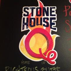 Photo taken at Stone House Q by Matt W. on 4/5/2012