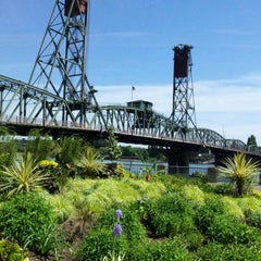 Photo taken at Hawthorne Bridge by andy i. on 5/13/2012
