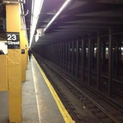 Photo taken at MTA Subway - 23rd St (C/E) by Brian T. on 2/24/2012