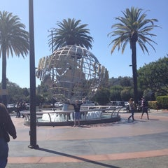 Photo taken at Universal Studios Hollywood Globe and Fountain by Mark H. on 4/15/2012