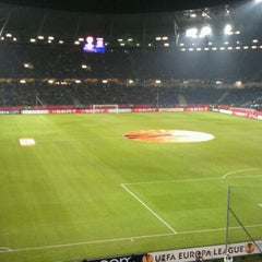 Photo taken at HDI Arena by Dirk E. on 2/16/2012