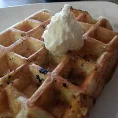 """Photo taken at Grid Iron Waffle Shop by """"JJ"""" on 10/2/2014"""