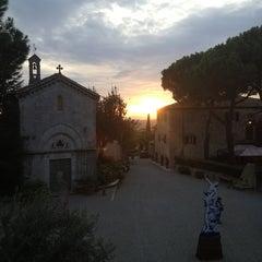 Photo taken at Borgo San Felice - Relais & Chateaux by Maximilian S. on 11/2/2013
