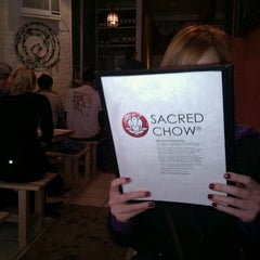 Photo taken at Sacred Chow by Chris J. on 11/10/2012
