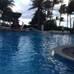 Photo taken at Loews Miami Beach Pool by Irina N. on 12/3/2012