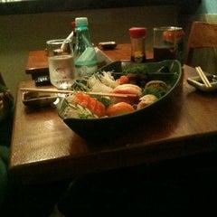 Photo taken at Deusimar Sushi by Tiago P. on 11/4/2012