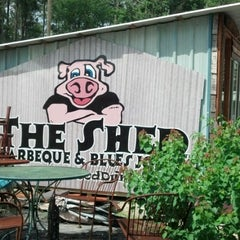 Photo taken at The Shed Barbeque and Blues Joint by Michelle P. on 6/19/2013