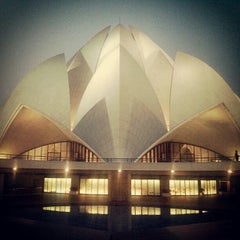 Photo taken at Lotus Temple (Bahá'í House of Worship) by Денис В. on 12/15/2012
