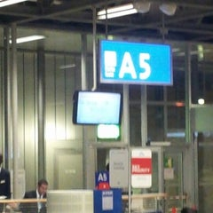 Photo taken at Gate A5 by Geert B. on 2/5/2013