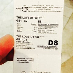 Photo taken at Greenbelt 1 Cinemas by Guillberth A. on 8/16/2015
