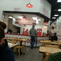 Photo taken at Five Guys by David D. on 1/14/2013