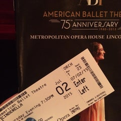 Photo taken at American Ballet Theatre at the Metropolitan Opera House by Deissy N. on 7/3/2015