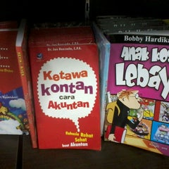 Photo taken at Fajar Agung Book Store by mrs f. on 11/9/2012