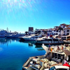 Photo taken at Puerto Banús by Sarah Y. on 10/3/2012