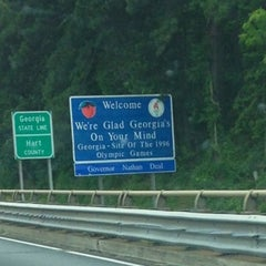 Photo taken at Georgia / South Carolina State Line by Amy L. on 6/1/2013