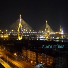 Photo taken at สะพานภูมิพล ๑ (Bhumibol 1 Bridge) by ToEy™ Suwat W. on 12/5/2013