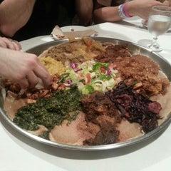 Photo taken at Demera Ethiopian Restaurant by mAdius on 11/20/2012