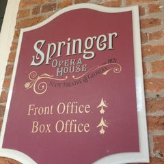 Photo taken at Springer Opera House by Parker S. on 12/1/2012