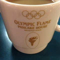 Photo taken at Olympic Flame Pancake House by Norman L. on 10/11/2012