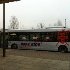 Photo taken at Monks Cross Park & Ride by Chris K. on 2/18/2013