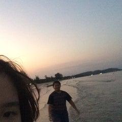 Photo taken at ชายทะเลปากน้ำ by pcn on 3/3/2015
