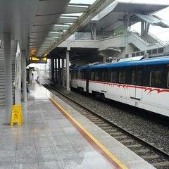 Photo taken at İzban Bayraklı İstasyonu by Caleb M. on 12/10/2012