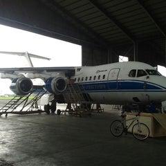 Photo taken at Bandar Udara Pondok Cabe (PCB) by Didik S. on 12/23/2013