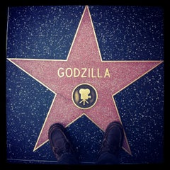 Photo taken at Godzilla's Star, Hollywood Walk of Fame by EAZY e. on 12/18/2012