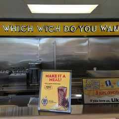 Photo taken at Which Wich? Superior Sandwiches by Justin on 3/1/2013