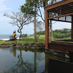 Photo taken at Merica Restaurant, Tanah Lot, Bali by Evgeniya T. on 1/14/2013