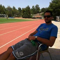 Photo taken at Soccer Field & Running Track ACG-Deree by Vicky N. on 5/19/2013