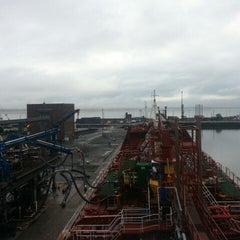 Photo taken at QE Oil Dock by Andis K. on 9/12/2013