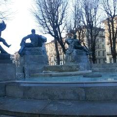 Photo taken at Piazza Solferino by Loredana B. on 1/25/2013