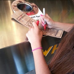 Photo taken at Which Wich? Superior Sandwiches by Kevin V. on 2/9/2013