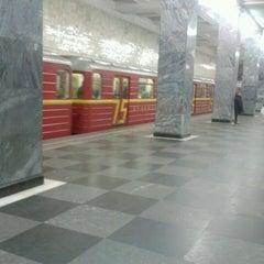 Photo taken at Метро Сокольники (metro Sokolniki) by Deni J. on 11/24/2012