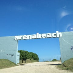 Photo taken at Arenabeach by Lucas Martín F. on 12/18/2012