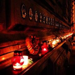 Photo taken at Terror Háza | House of Terror Museum by Balázs L. on 10/23/2012