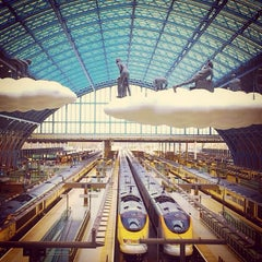 Photo taken at London St Pancras International Railway Station (STP) by Syed H. on 6/22/2013