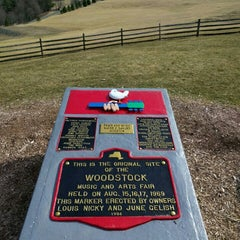 Photo taken at Woodstock Festival Concert Site/Monument by Leon Z. on 3/12/2016