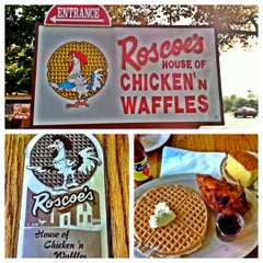 Photo taken at Roscoe's House of Chicken and Waffles by Martin A. on 12/9/2012