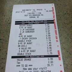 Photo taken at Wendy's by Parker K. on 12/14/2012