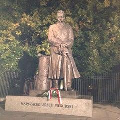 Photo taken at Pomnik Marszałka Piłsudskiego / Piłsudski Monument by Aleś Z. on 9/8/2013